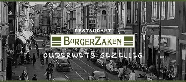 Korting in Leiden Restaurant BurgerZaken: gratis koffie of thee